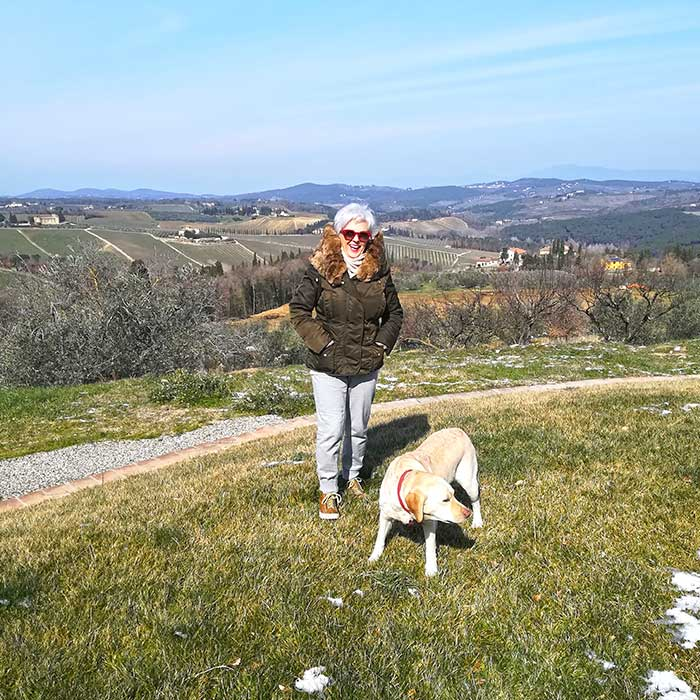Photo of the owner, Antonella Fedi, of the Vicolabate Farmhouse, Refined and exclusive Resort in the Tuscan countryside