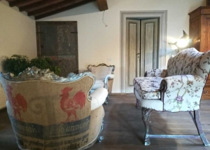 Exclusive armchairs in personalized country style