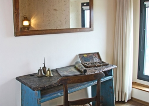 Old school desk used as a desk